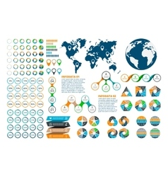 Big set of infographics elements vector image