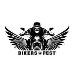 Biker logo vector image