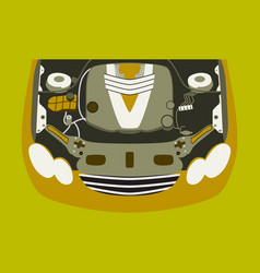 car motor vector image