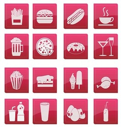 food icon glossy style vector image vector image