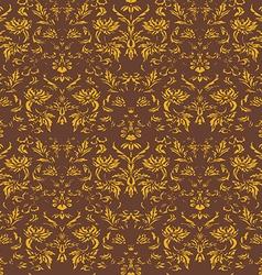 Seamless floral damask background vector image vector image