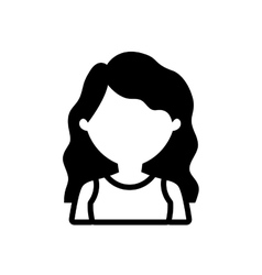 avatar woman long hair outline vector image vector image