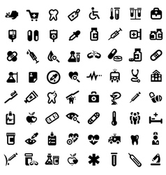 big medical icons set vector image