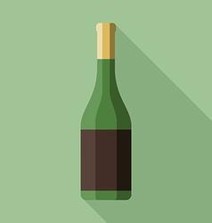 Bottle of champagne vector