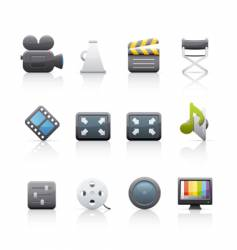 icon set film equipment vector image vector image
