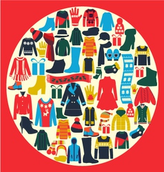 Set of womens and mens clothing vector