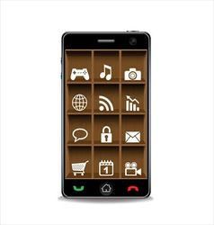 Smartphone and applications icon vector image vector image