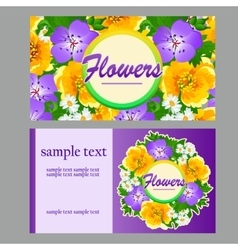 Two colorful card for your business needs vector image