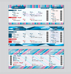Airline boarding pass tickets template vector image vector image