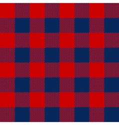 Blue red check pattern seamless fabric texture vector image vector image