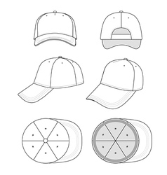 Cap template vector