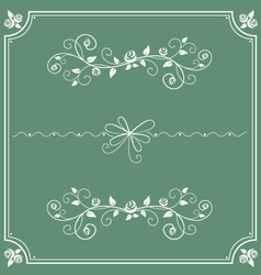 floral decorative ornament and frame vector image