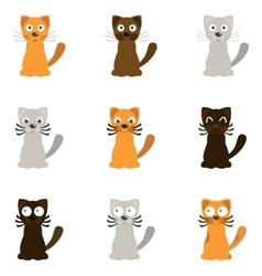 Funny cartoon cats vector image vector image