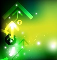 green arrow abstract design vector image vector image