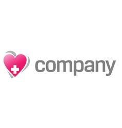 heart treatment logo vector image