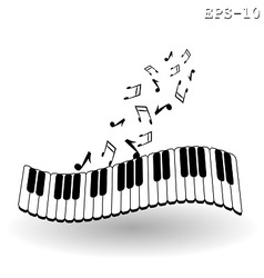 music klava i notki vector image