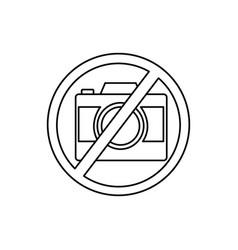 no camera sign icon vector image