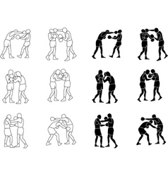 Sport Box Silhouettes vector image vector image