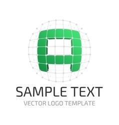 Template logo a vector image