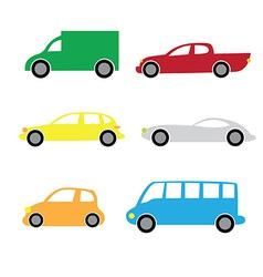 Cartoon cars 2 vector image vector image