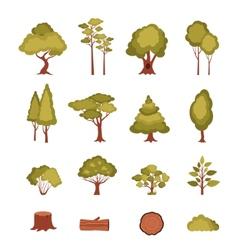 Forest Elements Set vector image