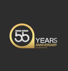 55 years anniversary celebration simple design vector