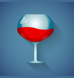 a glass of wine vector image
