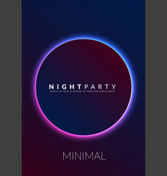 Abstract night party poster in glamour design vector