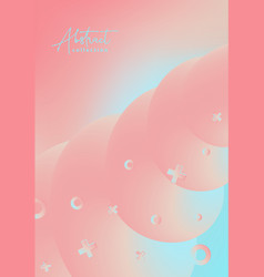 Abstract pastel pink cyan trendy vector