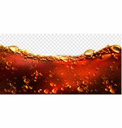 air bubbles cola soda drink beer or water border vector image