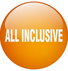 All inclusive orange round gel isolated push vector
