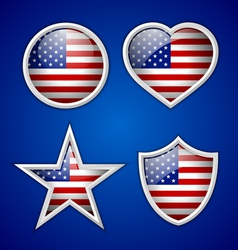 American badges vector image