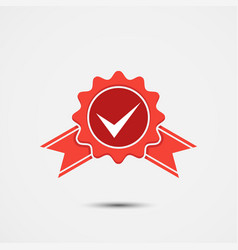 Approved accept certified icon guarantee icon vector