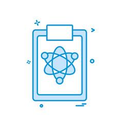 atom clipboard icon design vector image