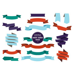 Banners ribbons and badges set collection vector