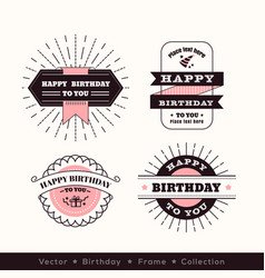 birthday logo frame design element vector image