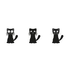 Black cartoon cats vector image