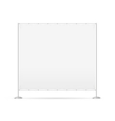blank banner billet press wall vector image