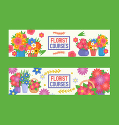 bouquet beautiful floral backdrop with vector image