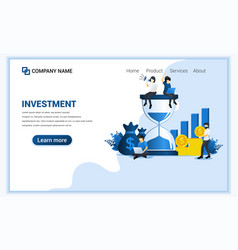 business investment concept with women sitting vector image