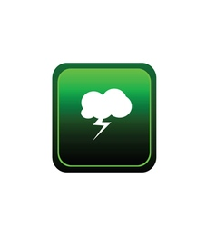 button of cloud flash vector image