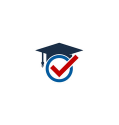 Check education logo icon design vector