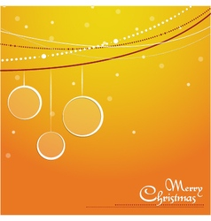 Christmas background orange vector