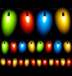 Christmas lights seamless vector