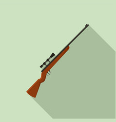 Classic sniper rifle icon flat style vector