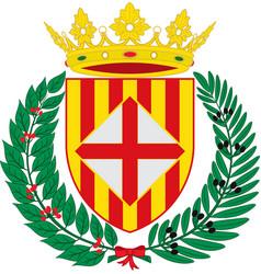 Coat of arms of barcelona is a province of spain vector