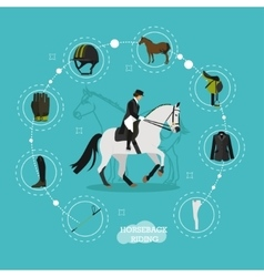Concept on horse riding theme vector
