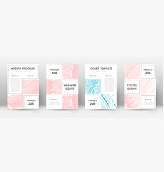 Cover page design template business brochure vector