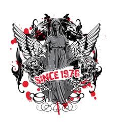 Dark gothic t-shirt design vector