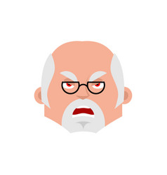 doctor angry emotion avatar physician evil emoji vector image